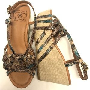 Lucky brand platform wedges shoes 7
